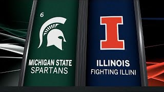 Michigan State at Illinois - Men's Basketball Highlights