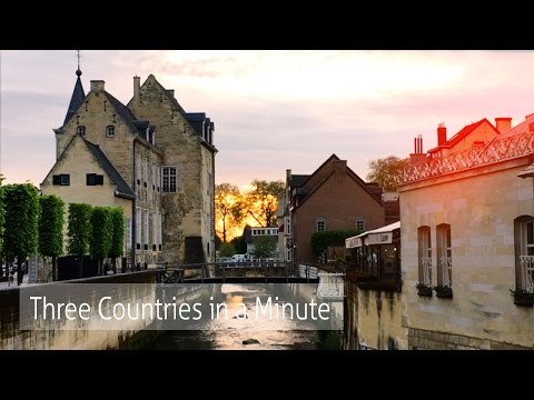 Travel Vlog: Three Countries in a Minute (Three Country Point) - Valkenburg Castle