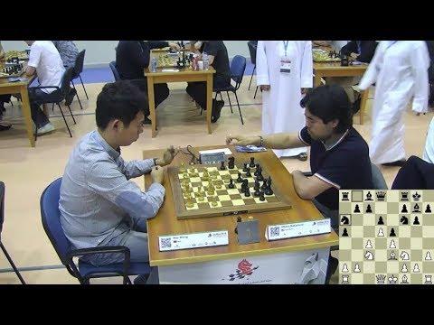 EXCITING TACTICAL!!! Hikaru Nakamura Vs Wang Hao - World Blitz Chess Championship 2014