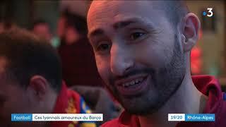 Football : des Lyonnais supporteurs du Barça pour le match de Ligue des Champions OL-Barcelone