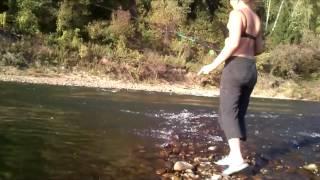 Риболовля на річці Томь , на Уклейку.