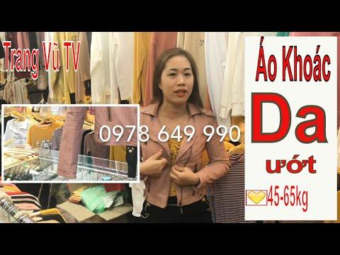 Áo Khoác Da Ướt Quảng Châu Cổ Bẻ - Trang Vũ Tv