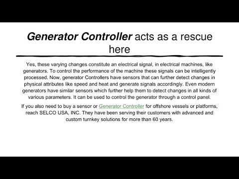 Get to know the Benefits of Generator Controller for Offshore Community