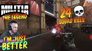 APEX LEGENDS 24 SQUAD KILLS  | MILITIA APEX XBOX ONE GAMEPLAY