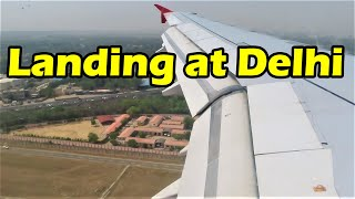 Amazing View of Delhi from Sky | Air Asia Flight Landing at Delhi Airport Terminal 3