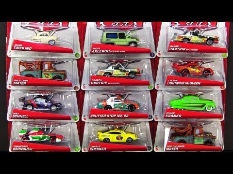 Disney Cars 2013 G Case 24 2013 Mattel Die-Cast Unboxing by ToyPitStop Cars