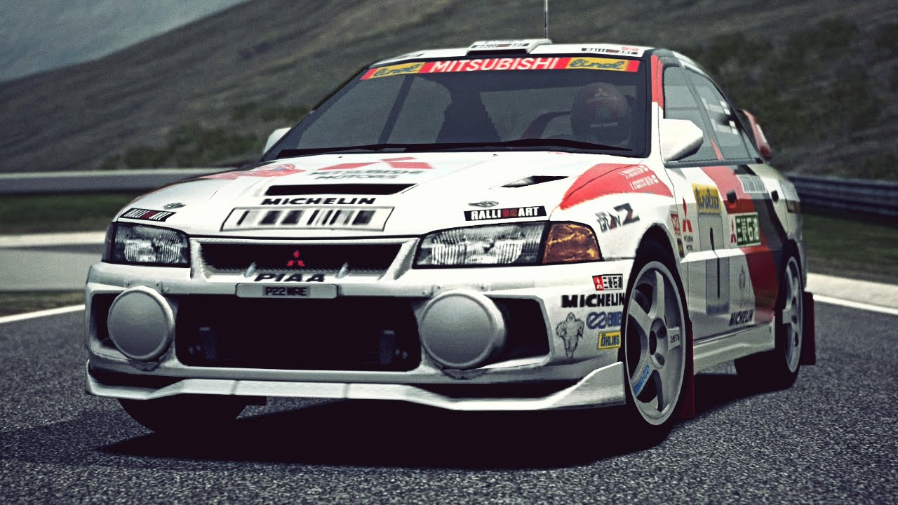 Gt6 Mitsubishi Lancer Evolution Iv Rally Car 97 Exhaust Video