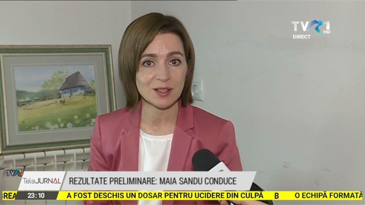 """Interviu cu Maia Sandu: """"Voi demonstra respect pentru toţi cetăţenii R. Moldova"""" (@TVR1)"""