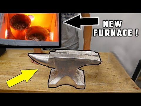 CASTING an ANVIL from SOLID LEAD !