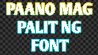 Paano mag palit ng font name sa facebook page || change font name facebook page