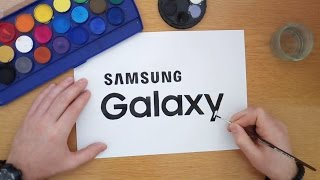 How to draw the Samsung Galaxy logo