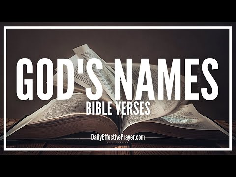 Bible Verses On God's Names - Scriptures On The Names Of God (Audio Bible)
