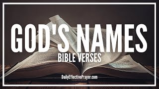 Bible Verses On God's Names | Scriptures On The Names Of God (Audio Bible)