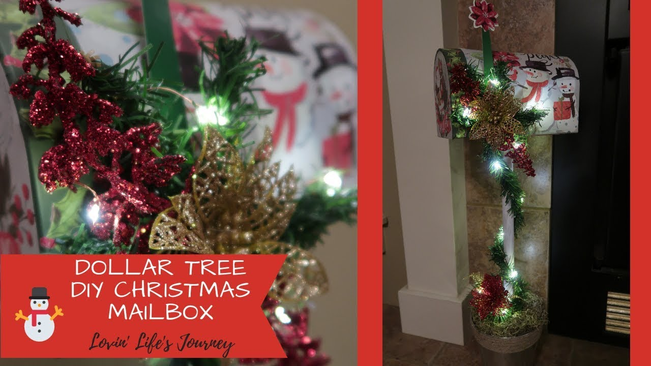 Mailbox Christmas Decorations.Easy Dollar Tree Diy Christmas Mailbox Decor