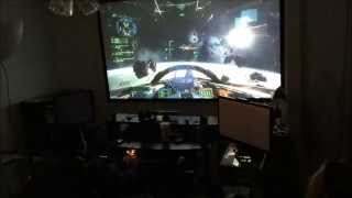 Star Citizen using native 1920*1080P Viewsonic Projector.