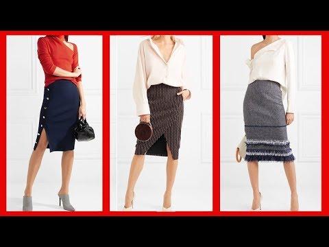432c4c58af Faldas Y Blusas Elegantes Para Señoras Moda 2018 - YouTube