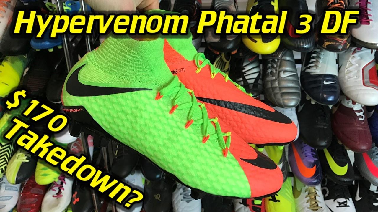5fd21922e05 Nike Hypervenom Phatal 3 DF (Radiation Flare Pack) - One Take Review + On  Feet - YouTube
