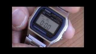 Relojeria :como cambiar la hora del reloj Casio A 158 Retro vintage. ¿ Original o falso ?