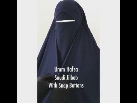 Saudi Jilbab with Snap Buttons !