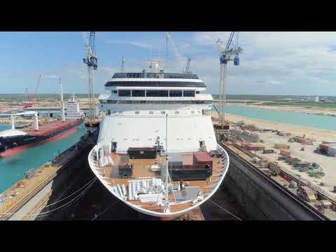 MS Rotterdam in dry dock