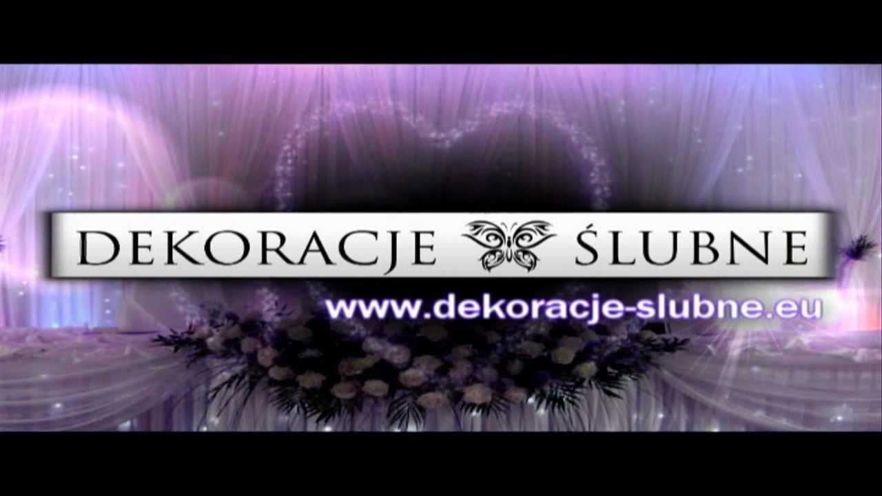 Dekoracje ślubne Wwwdekoracje Slubneeu Jelenia Góra 2012 Youtube