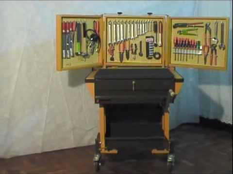 Carro porta herramientas maggiori youtube for Casas de madera para guardar herramientas