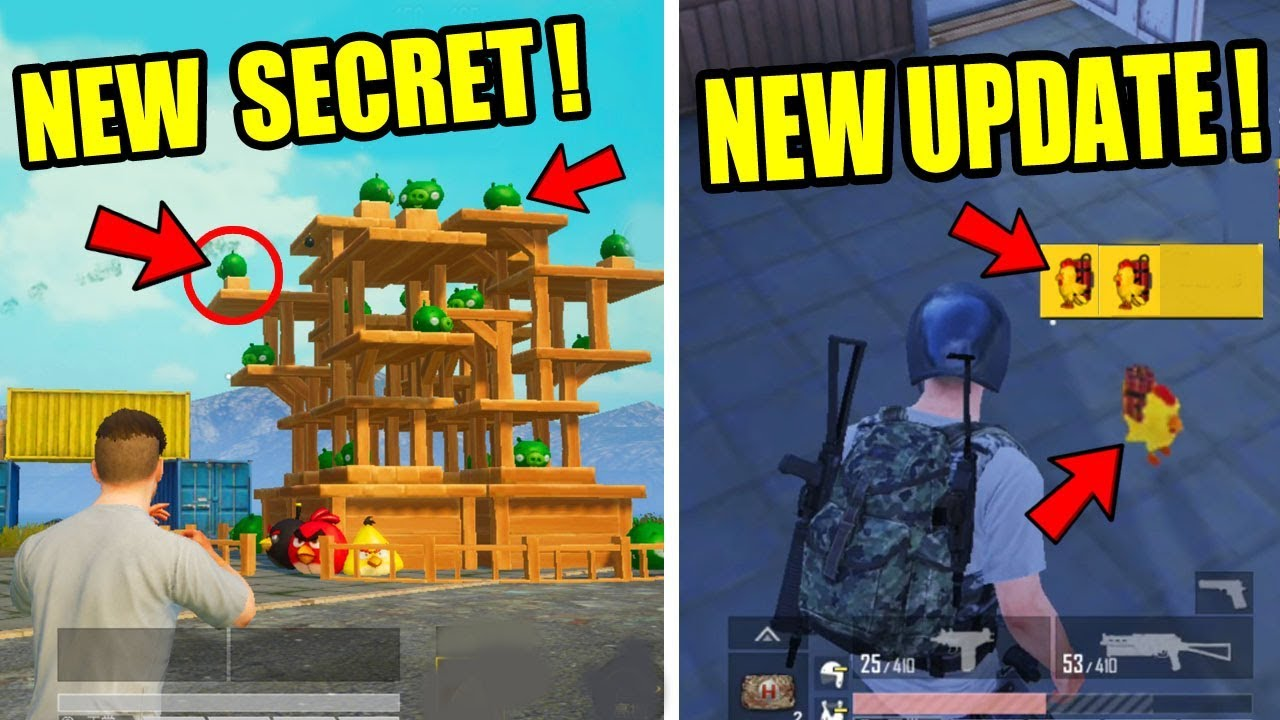 Pubg Mobile New Secret Update ! New Chicken Grenade,New Spawn island and more tips and trick !