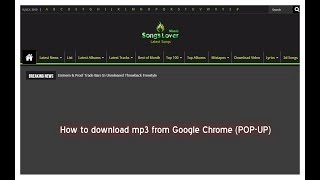 How to download mp3 from Google Chrome (POP-UP) 2019