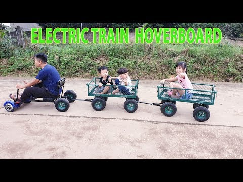 Build Electric Train Mini With Hoverboard