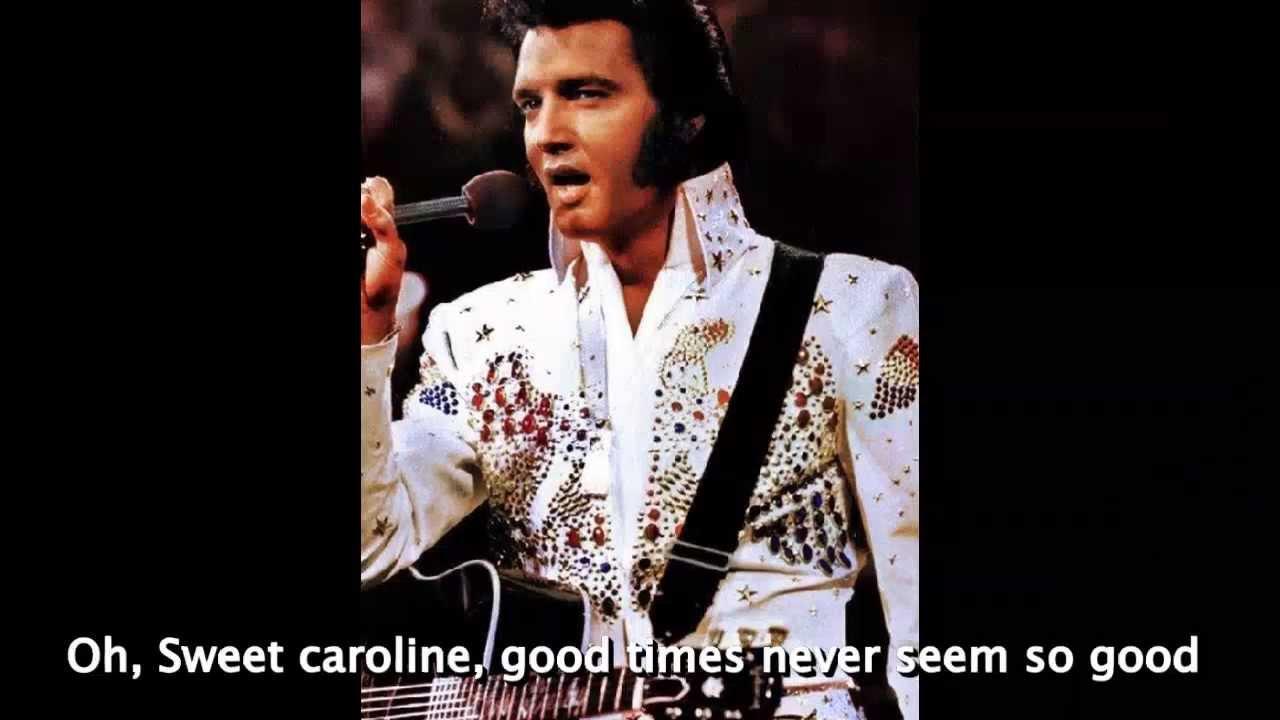 Sweet Caroline - Elvis Presley - (Cover with lyrics) - YouTube