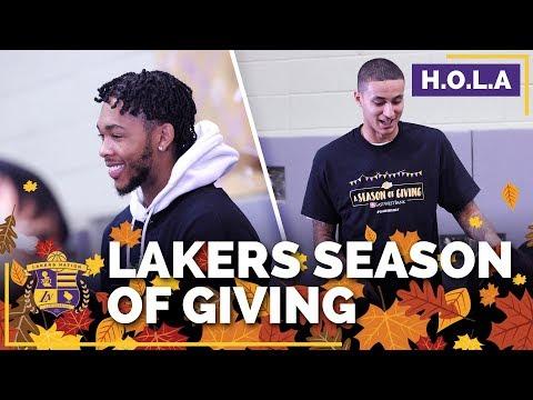 Kyle Kuzma, Brandon Ingram Join Lakers Season of Giving