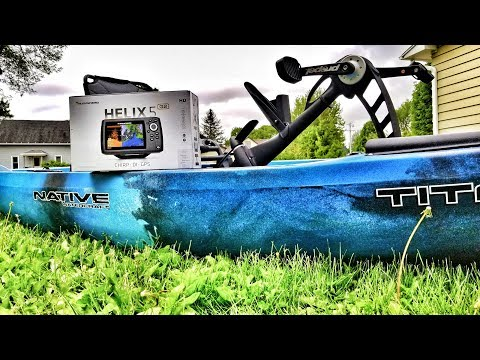 HELIX 5 On My Kayak! | How I Mounted My Fish Finder
