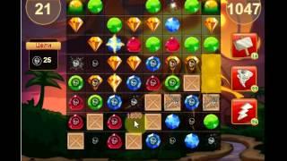 сокровища пиратов 1047         уровень прохождение - Pirate treasures level1047        walkthrough