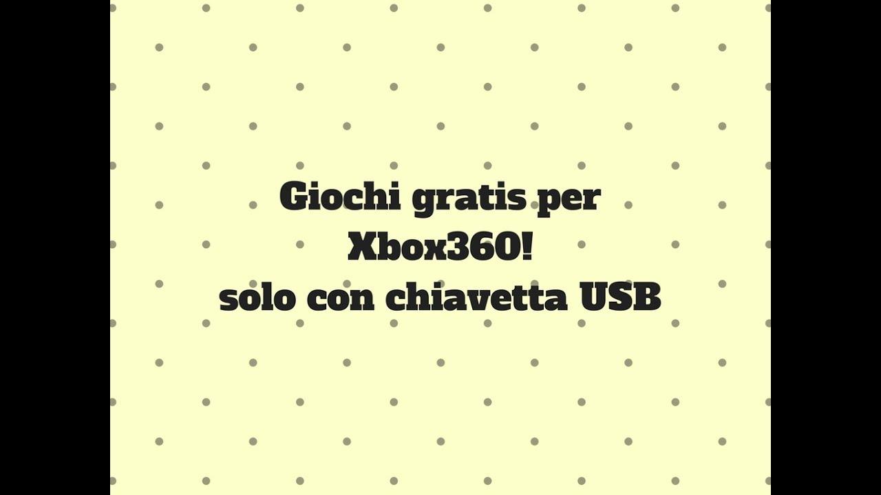 giochi xbox 360 su chiavetta usb