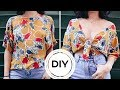 DIY KNOTTED CROP TOP! SUPER EASY! | CassidySecrets