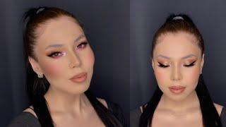 Макияж для НАВИСШЕГО века макияж в технике Кошачий глаз Cat eyes makeup Soft Glam makeup
