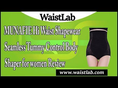 2816c9fc8ea9 MUNAFIE Hi waist Shapewear Seamless Tummy Control Body Shaper for women  Review - YouTube