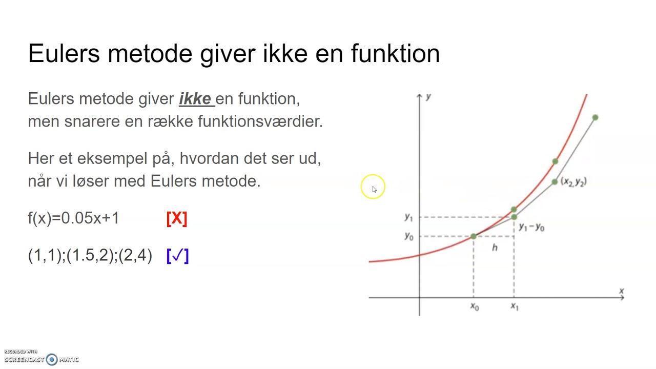 Eulers metode gennemgang