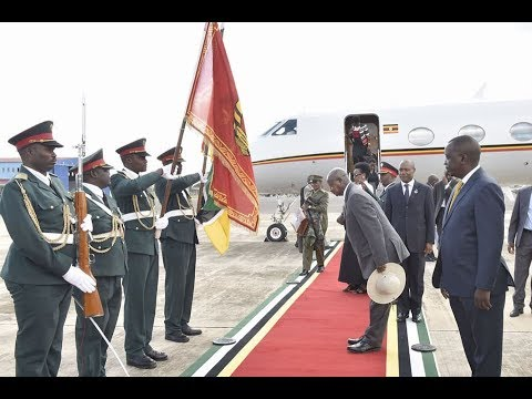 President Museveni begins three days visit to Mozambique