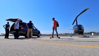 FLYING A HELICOPTER TO VIDCON!!