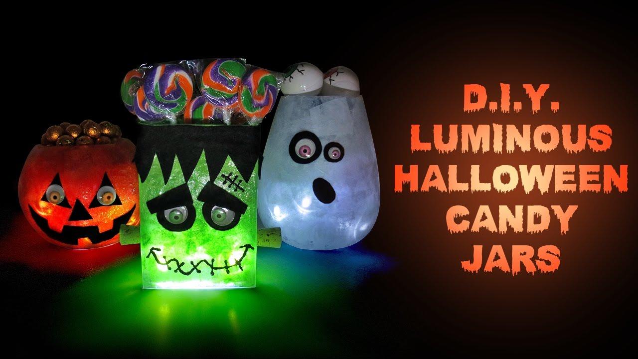Diy Halloween Luminous Candy Jars Halloween Party Decorations And
