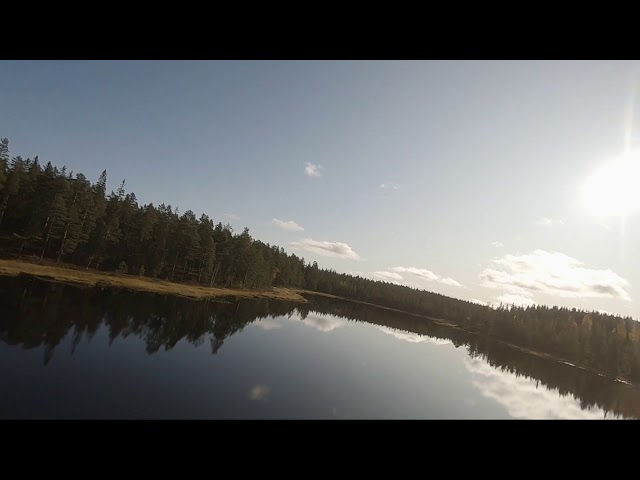 Crazy clear water reflections - FPV drone flying