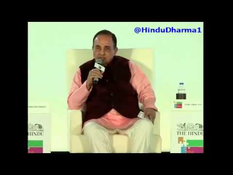 """Watch Dr Subramanian Swamy Speaking in The Hindu Newspaper 2-Day Conclave """"The Huddle"""" in BENGALURU"""