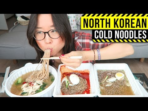 North Korean Cold Noodles MUKBANG