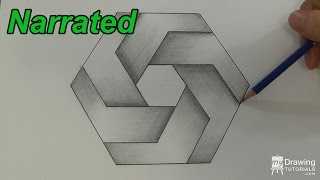 How To Draw An Impossible Hexagon - Impossible Shapes (Narrated)
