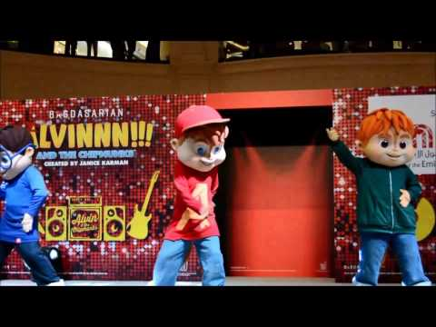 Alvin and The Chipmunks - Live performance at Mall of Emirates (Pt 1)