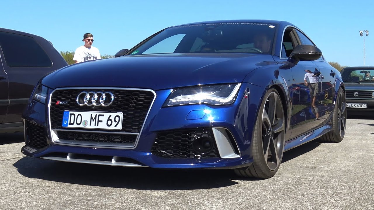 750 HP AUDI RS7 SUPERSPRINT SOUND ACCELERATION ONBOARD AUTOBAHN 0