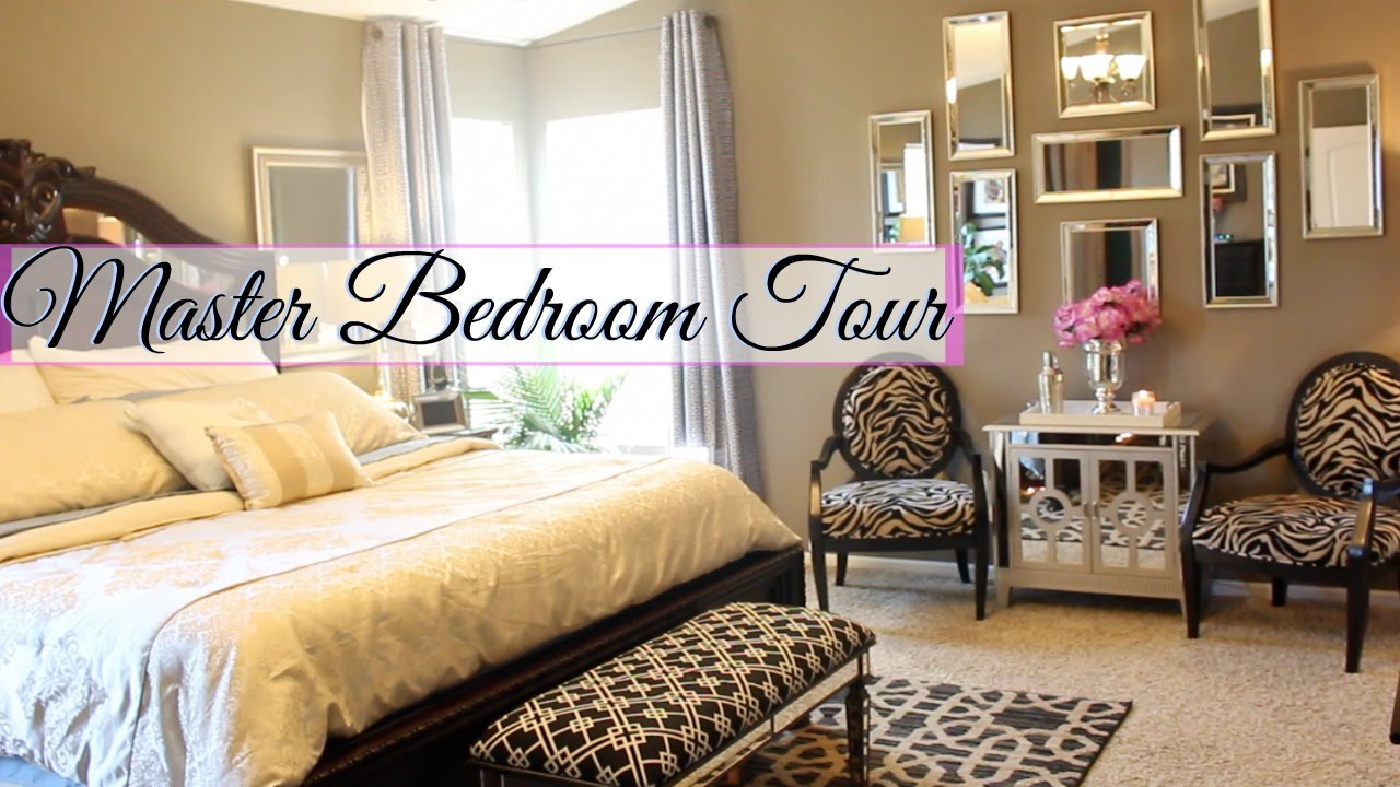 Glam Home Master Bedroom Tour Glameverything Youtube