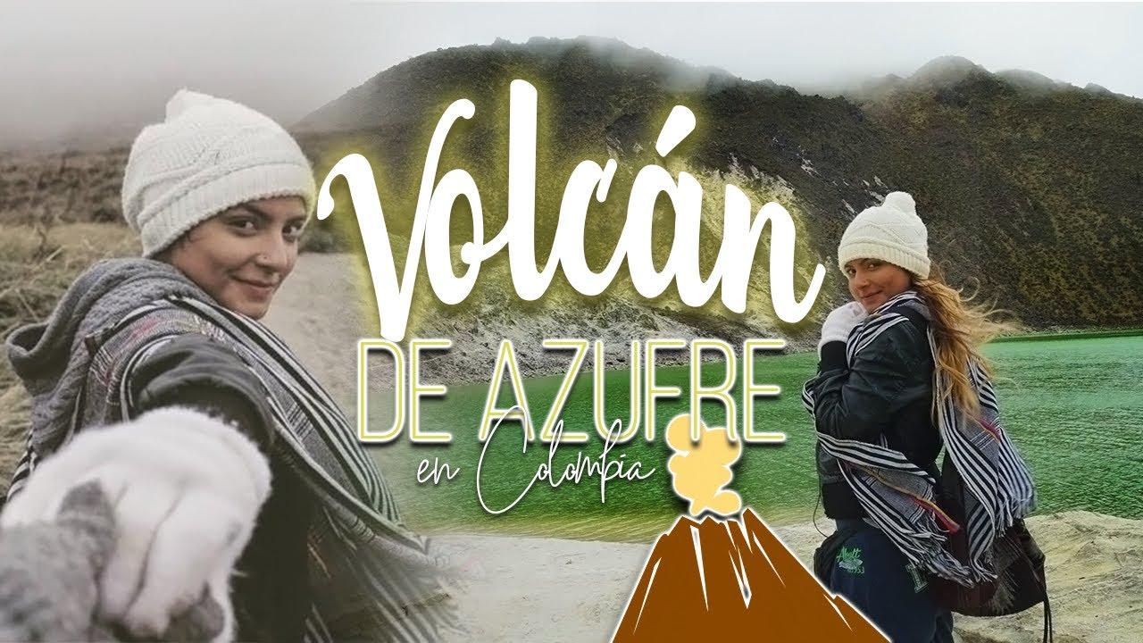 LAGUNA VERDE AZUFRAL - PAISAJES IMPRESIONANTES DE COLOMBIA