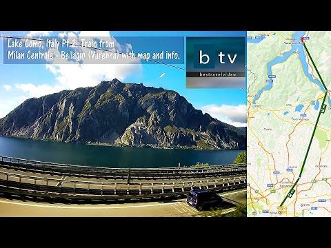 Lake Como, Italy Pt. 2: Train Milan - Bellagio (Varenna) with map & info